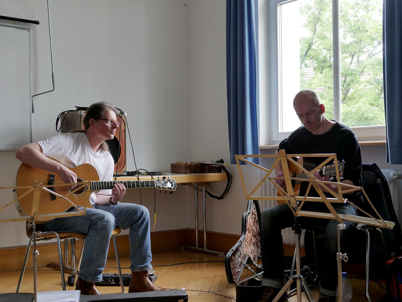 Schorndorfer Gitarrentage 2015,Fingerstyle,Workshop,Peppino D'Agostino,Markus Bartel, Schorndorf,Gitarre