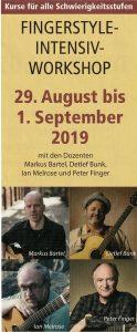 Markus Bartel, Ian Melrose, Peter Finger, Detlef Bunk, Gitarre, Akustikgitarre, Workshop, Fingerstyle
