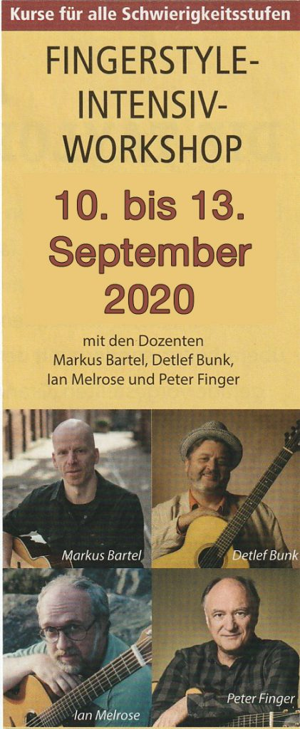 Markus Bartel, Workshop, Fingerstyle, Ian Melrose, Peter Finger, Osnabrück,